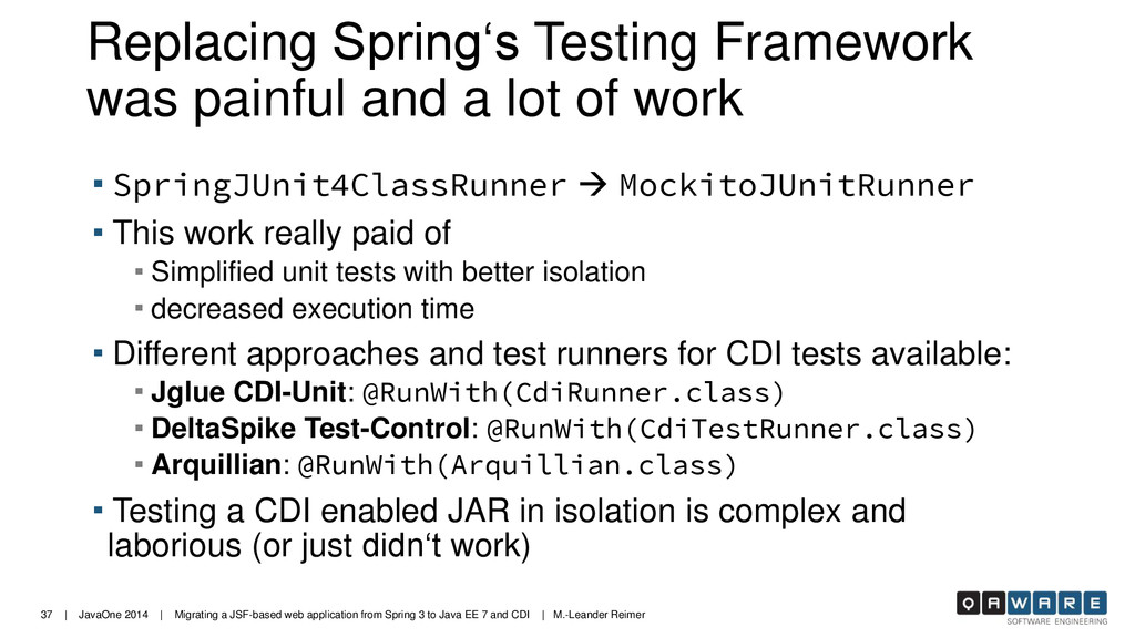 37 | JavaOne 2014 | Migrating a JSF-based web a...