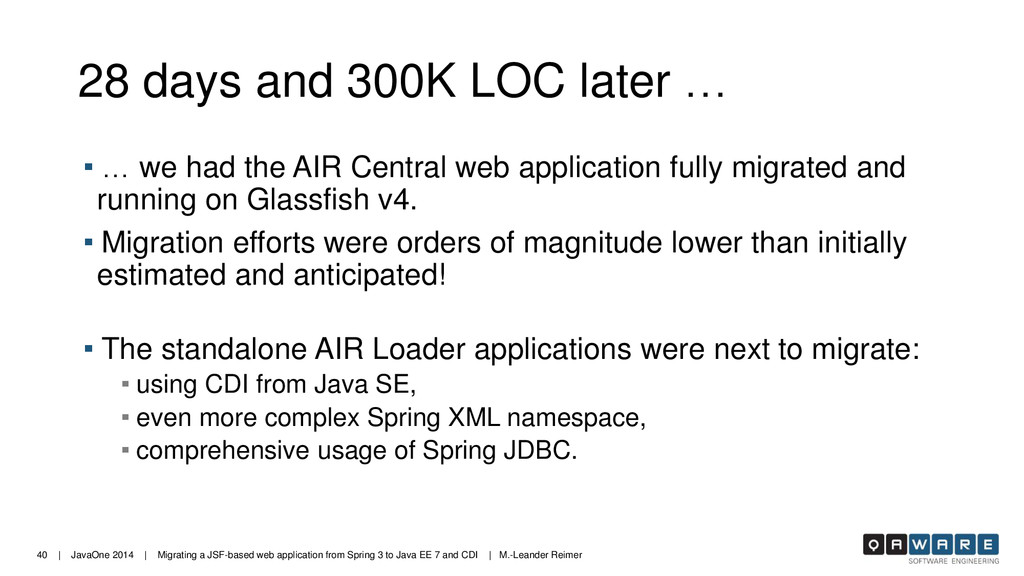 40 | JavaOne 2014 | Migrating a JSF-based web a...