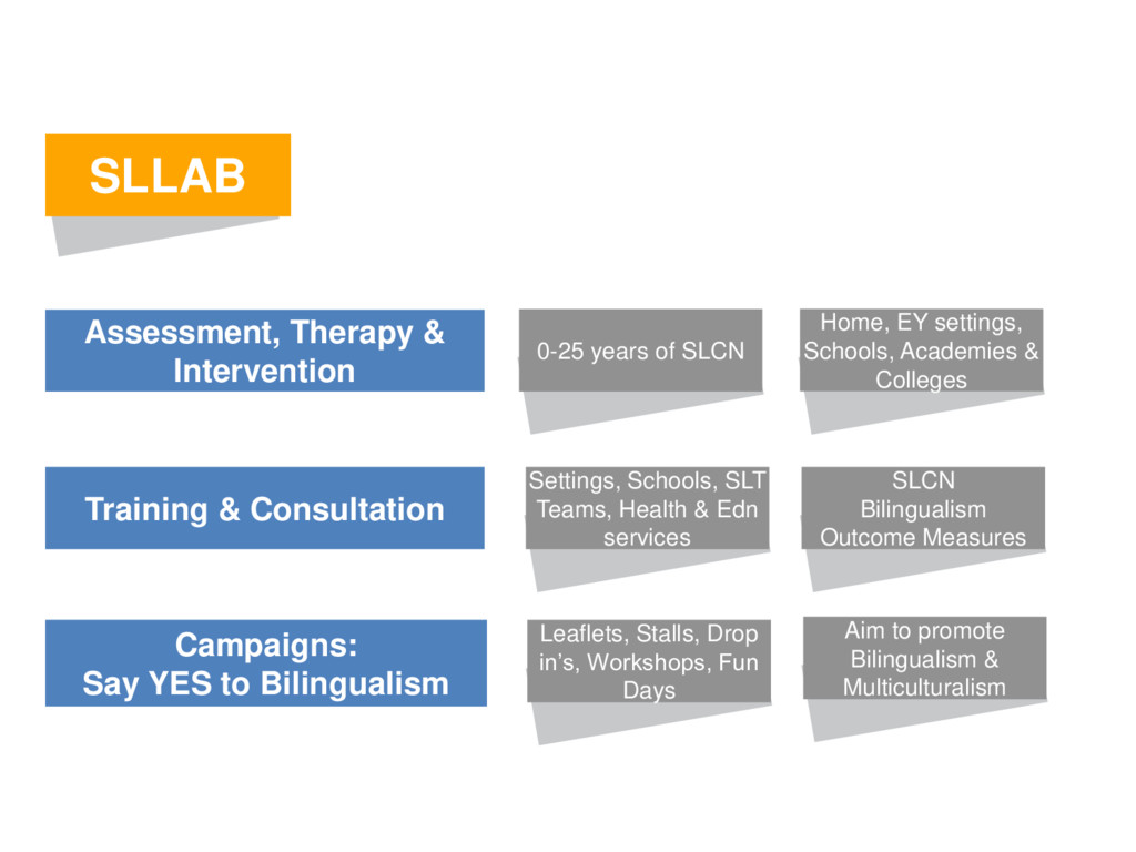 SLLAB Assessment, Therapy & Intervention Campai...