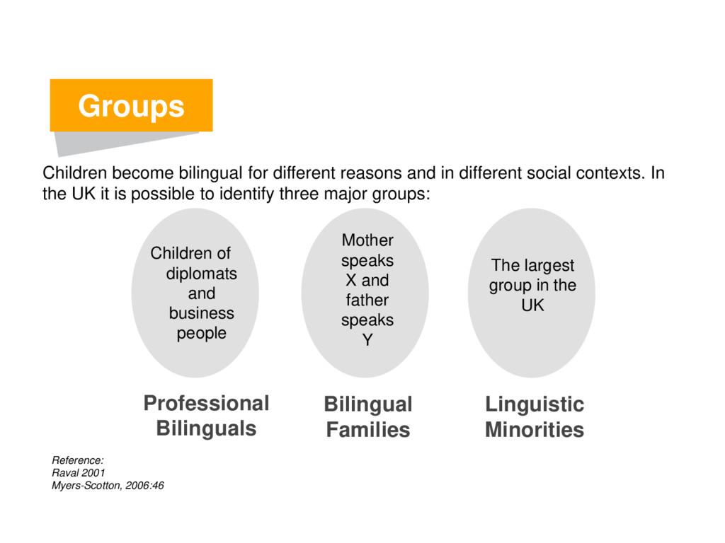 Groups Professional Bilinguals Bilingual Famili...
