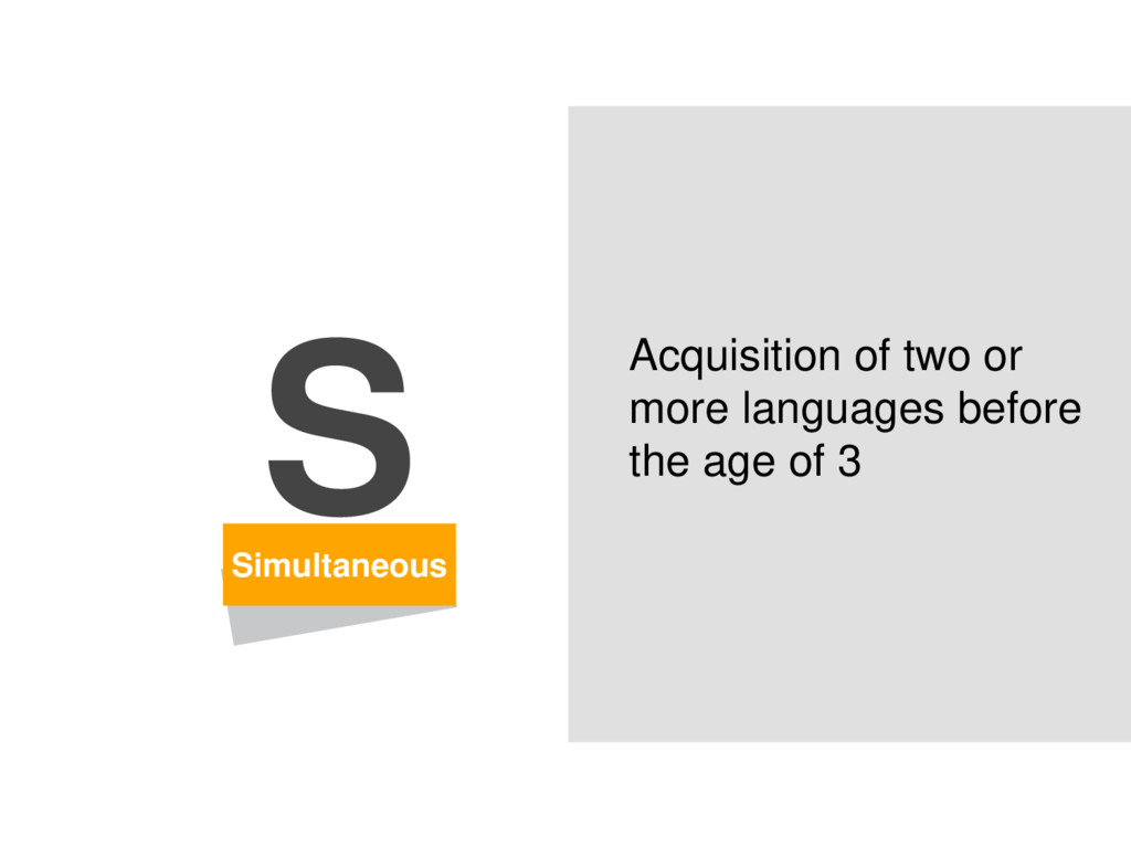 Simultaneous S Acquisition of two or more langu...