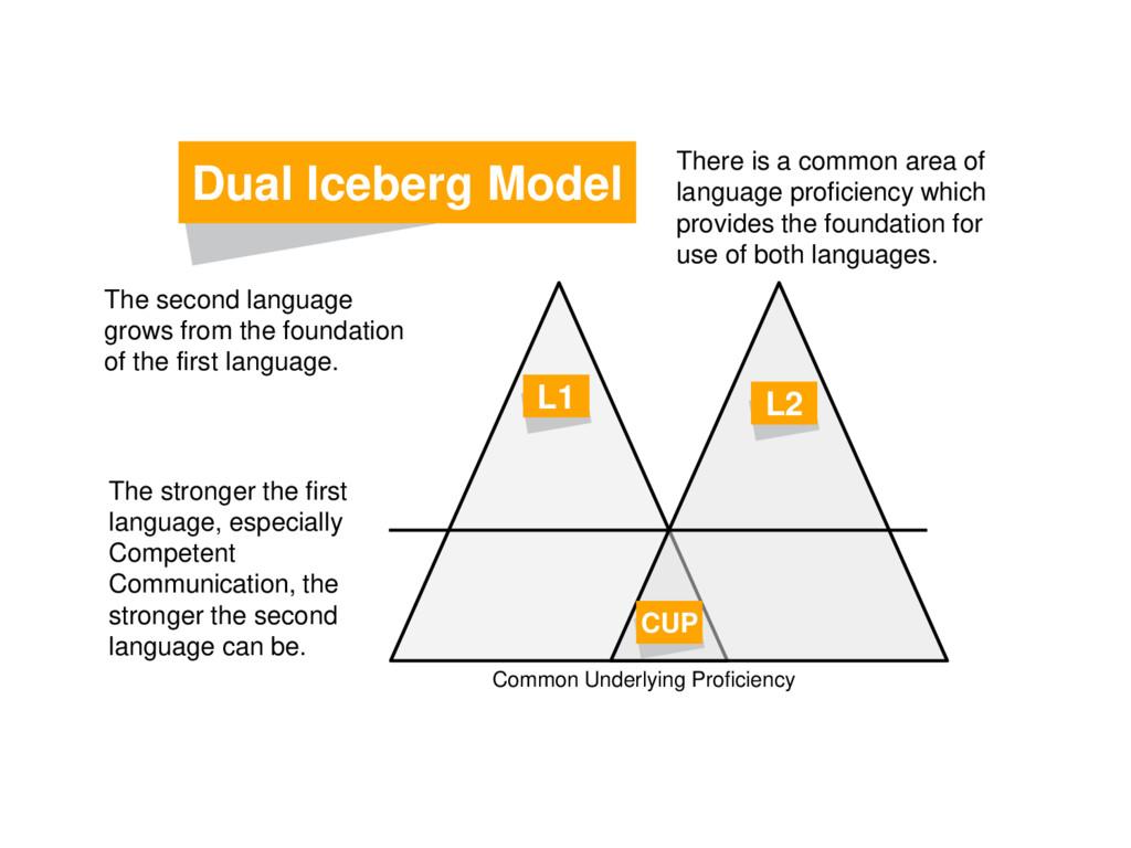 Dual Iceberg Model L1 L2 CUP Common Underlying ...