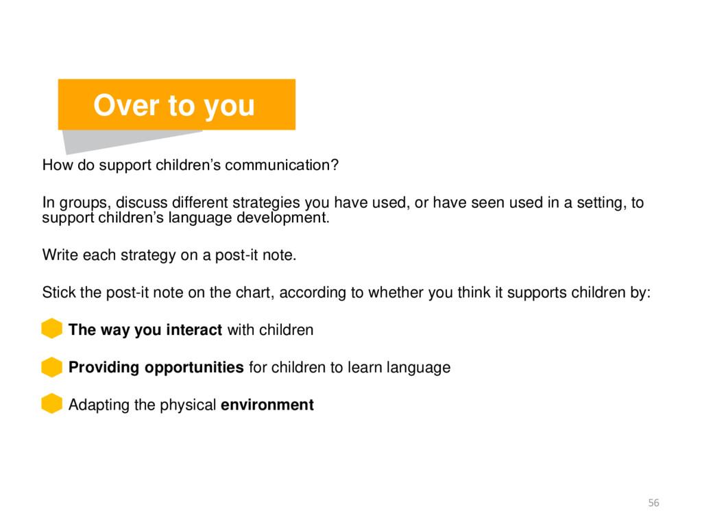 How do support children's communication? In gro...