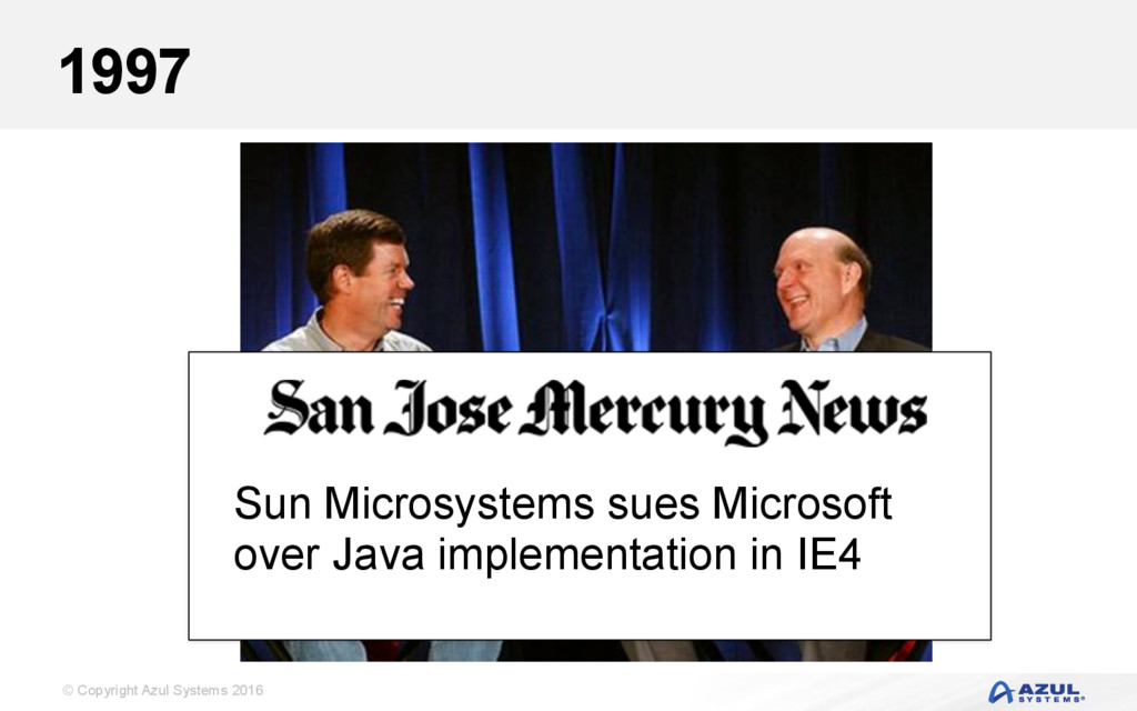© Copyright Azul Systems 2016 1997 Sun Microsys...