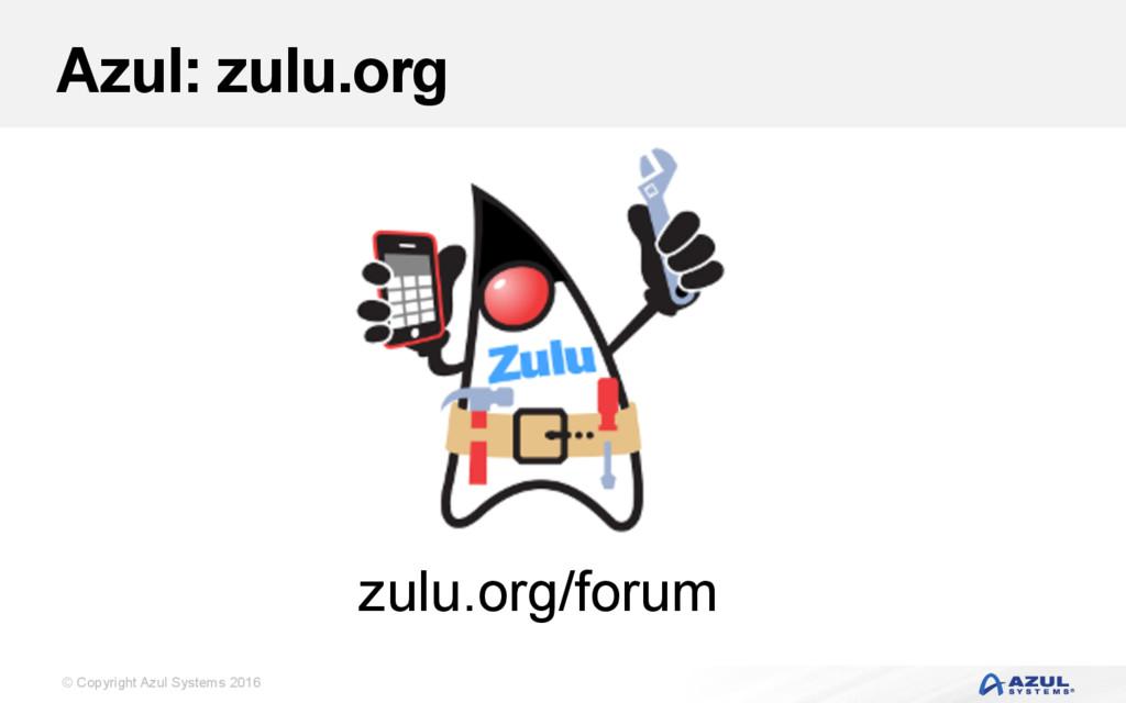 © Copyright Azul Systems 2016 Azul: zulu.org zu...