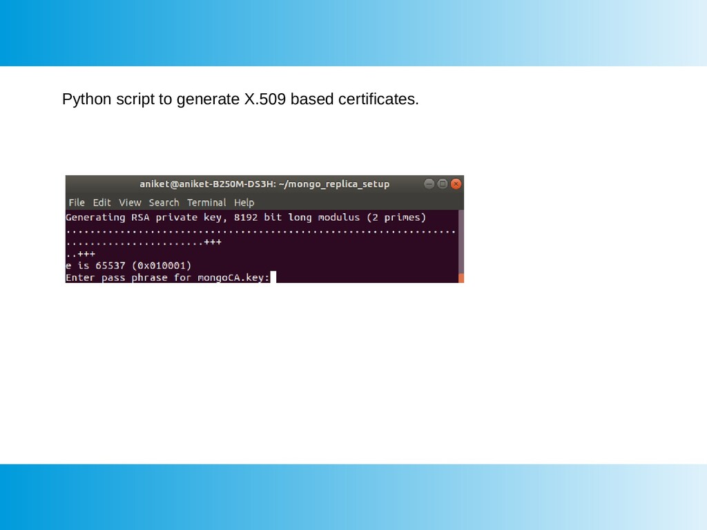 Python script to generate X.509 based certifica...