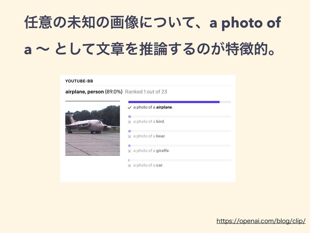 ҙͷະͷը૾ʹ͍ͭͯɺa photo of a ʙ ͱͯ͠จষΛਪ͢Δͷ͕ಛతɻ IU...