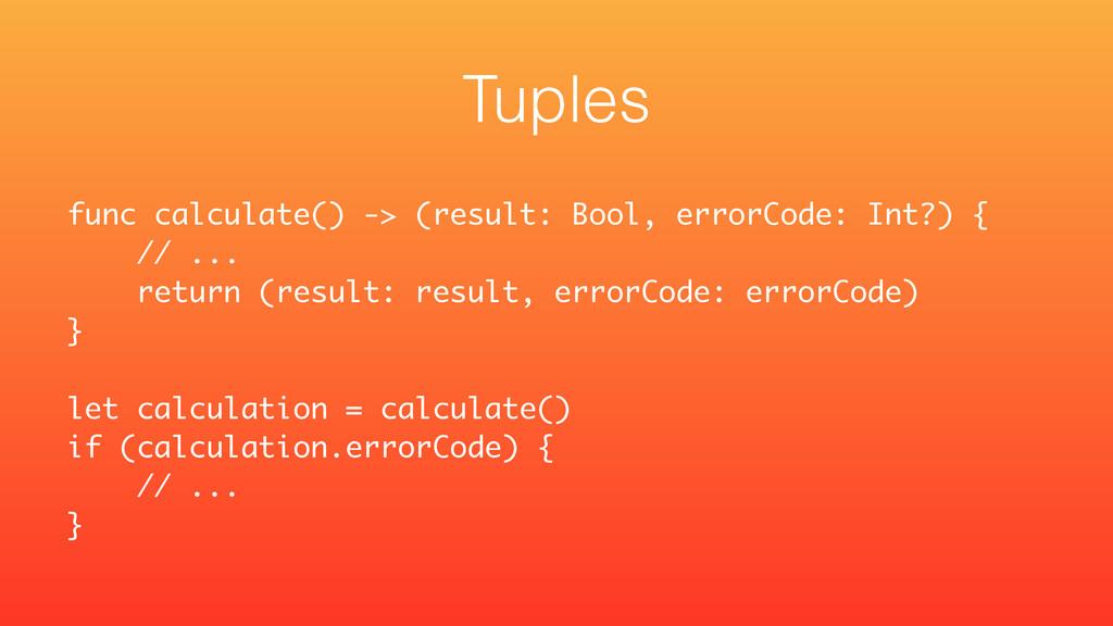 func calculate() -> (result: Bool, errorCode: I...