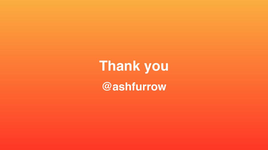 "Thank you"" @ashfurrow"