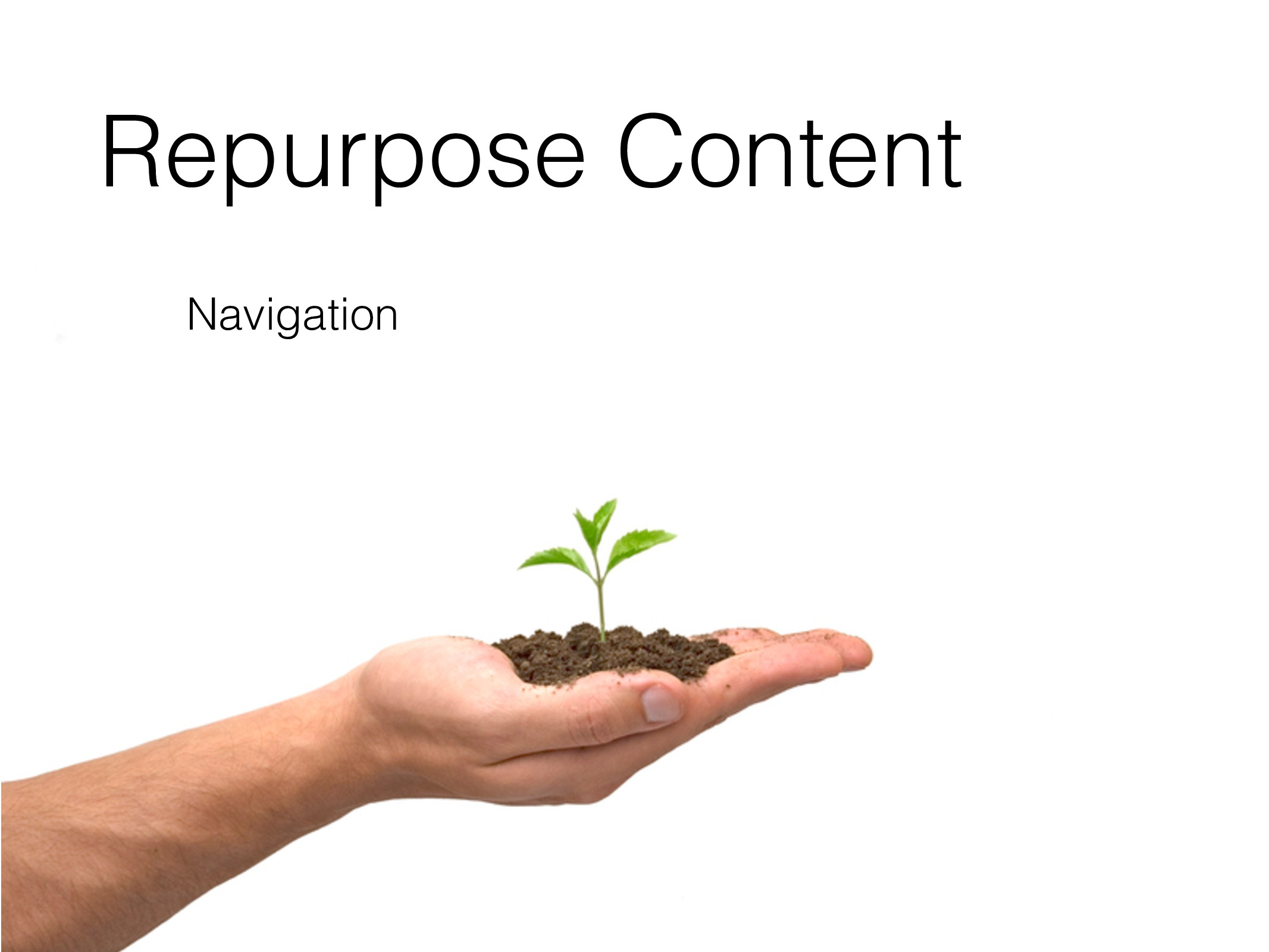 Repurpose Content Navigation