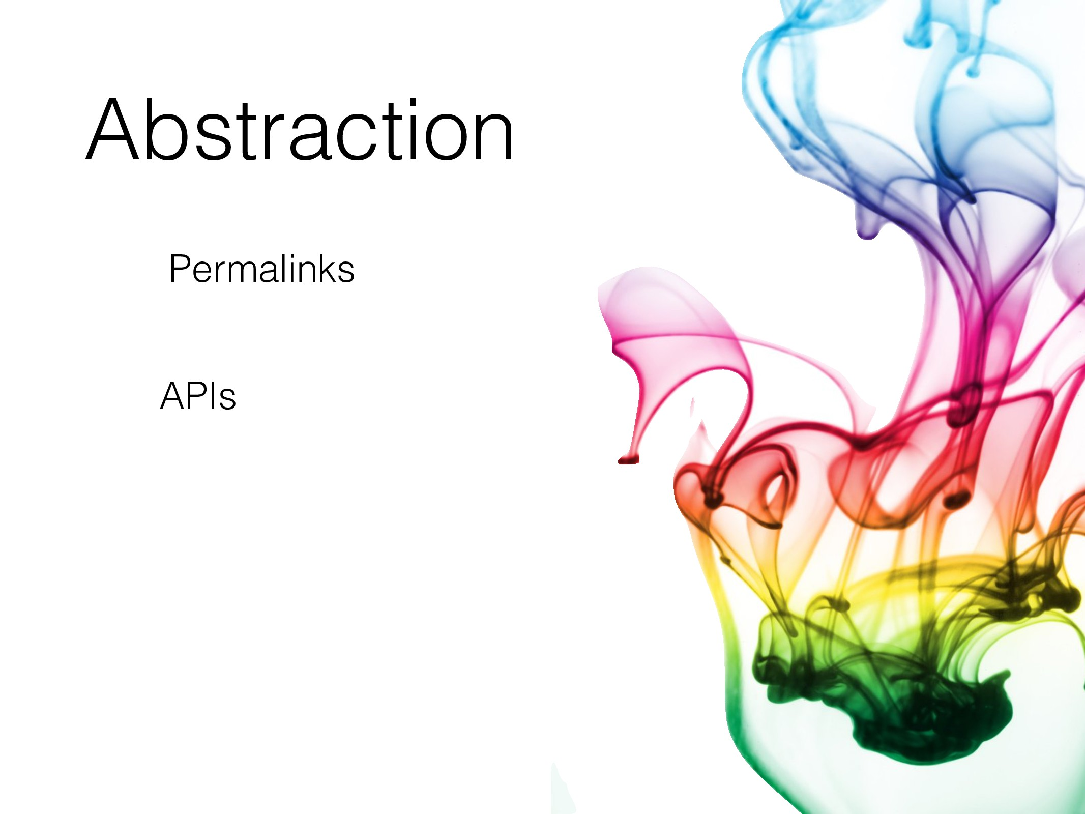 Abstraction Permalinks APIs