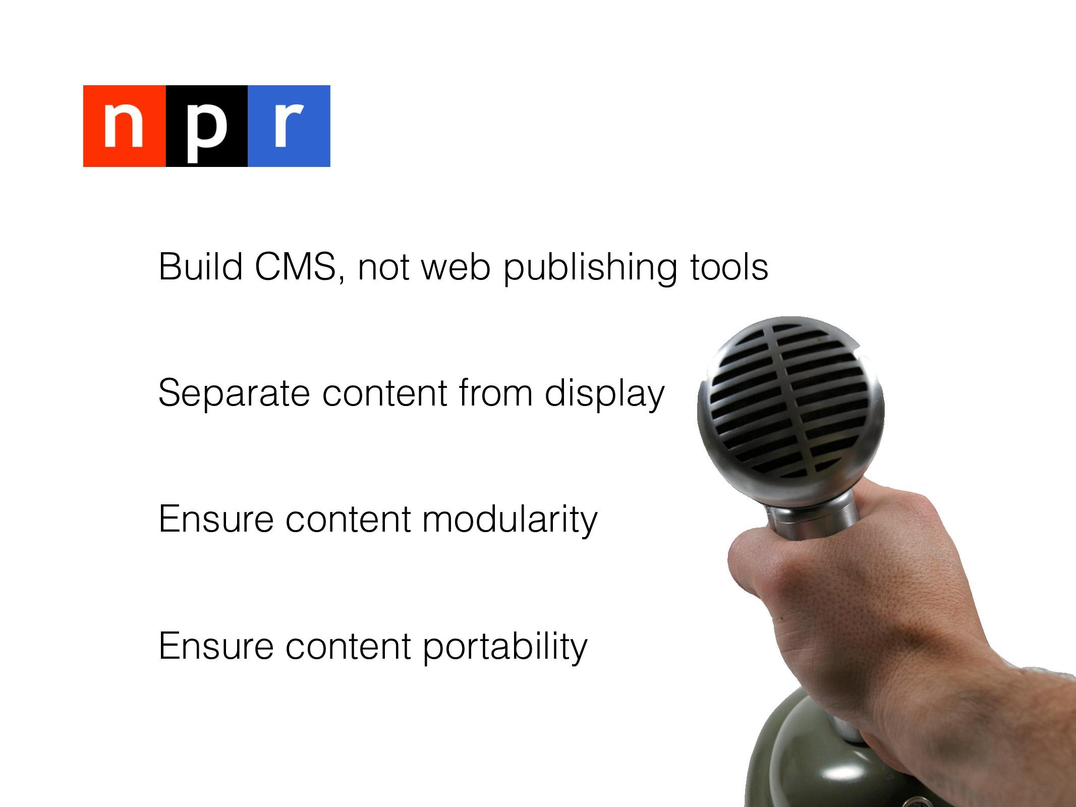 -> C.O.P.E. Build CMS, not web publishing tools...