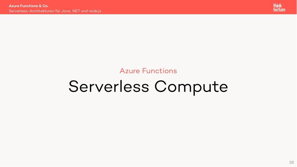 28 Azure Functions Serverless Compute Serverles...