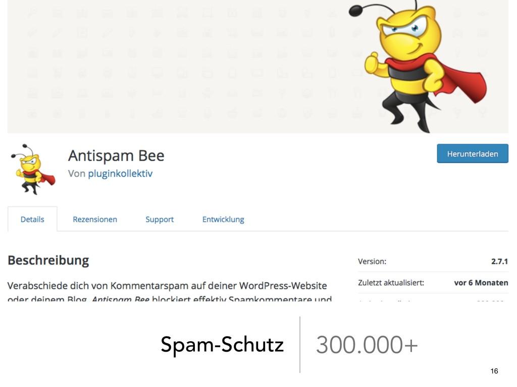 Spam-Schutz 300.000+ 16