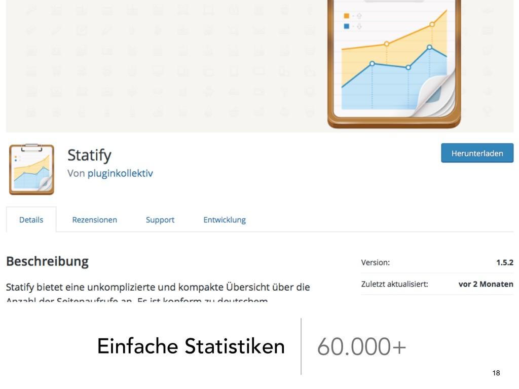 Einfache Statistiken 60.000+ 18