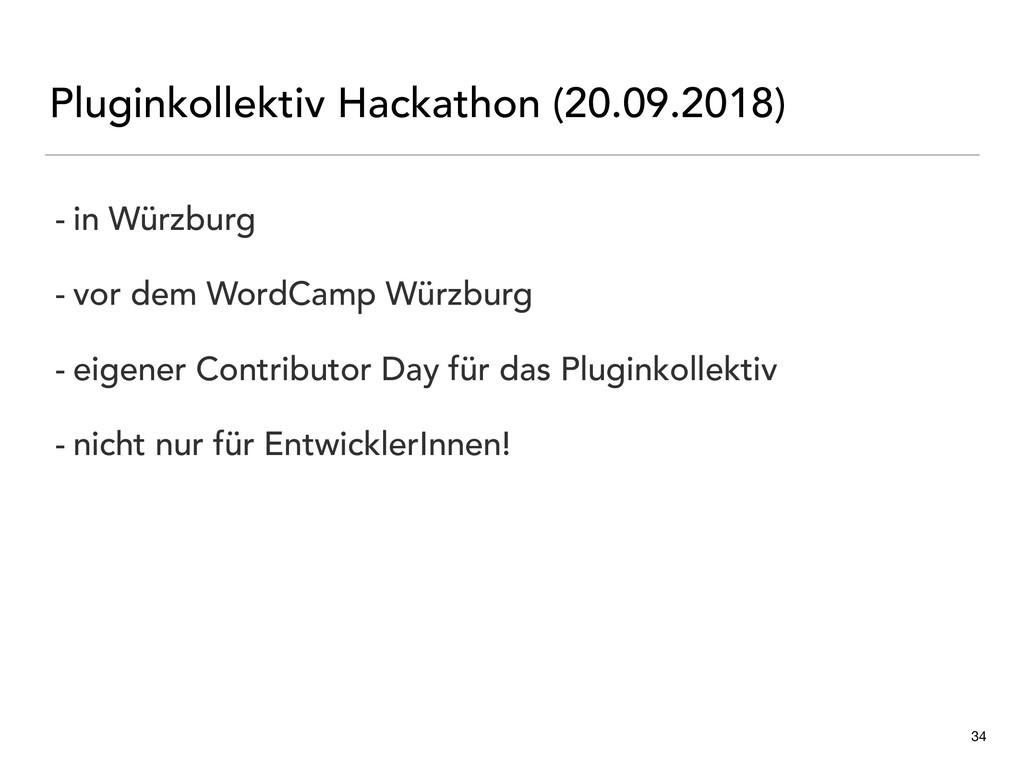 Pluginkollektiv Hackathon (20.09.2018) 34 - in ...