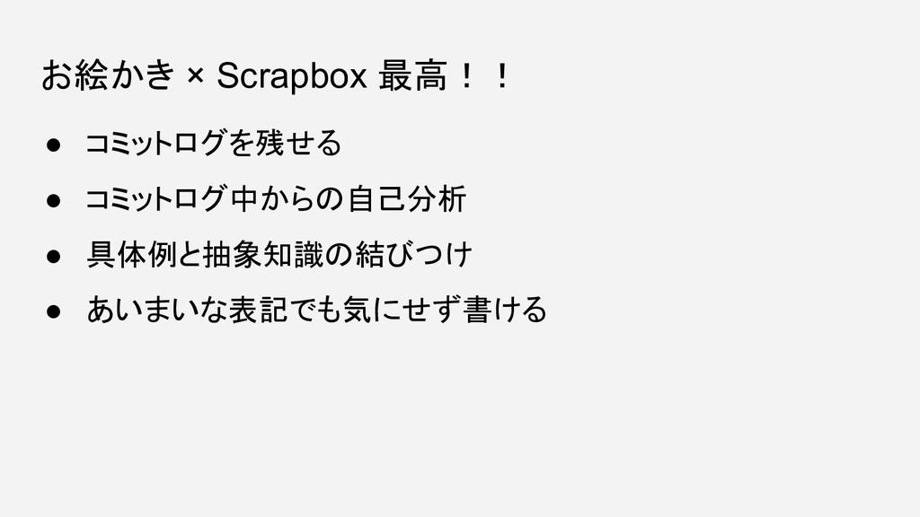 お絵かき × Scrapbox 最高!! ● コミットログを残せる ● コミットログ中からの自...