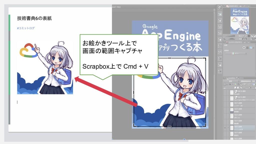 お絵かきツール上で 画面の範囲キャプチャ Scrapbox上で Cmd + V