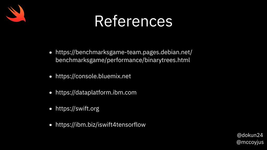 @dokun24 @mccoyjus References • https://benchma...