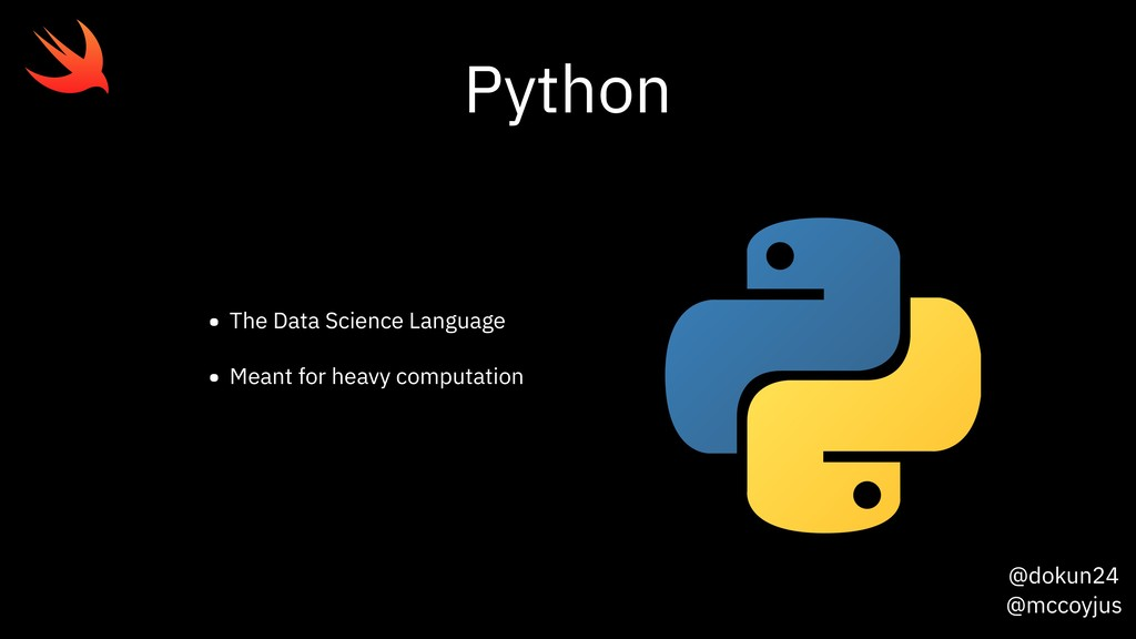 @dokun24 @mccoyjus Python • The Data Science La...