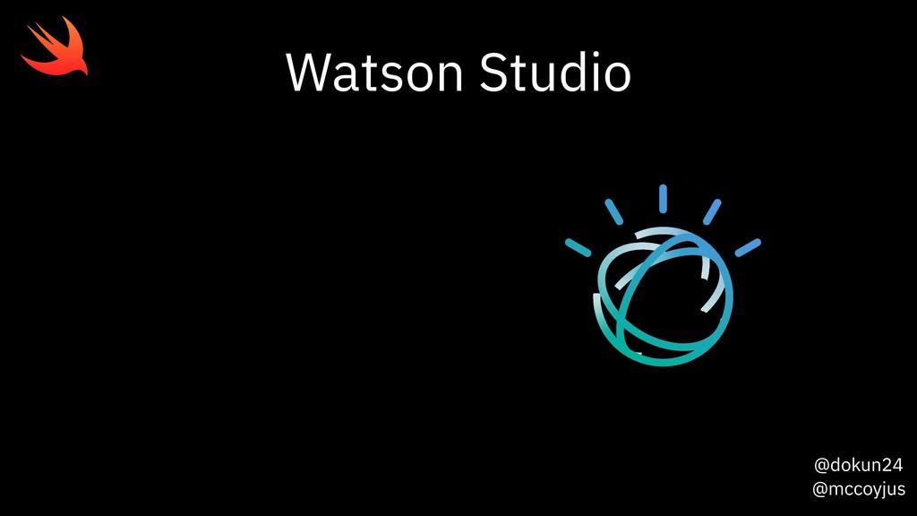 @dokun24 @mccoyjus Watson Studio