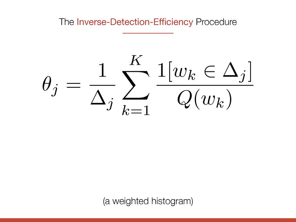 The Inverse-Detection-Efficiency Procedure ✓j = 1...