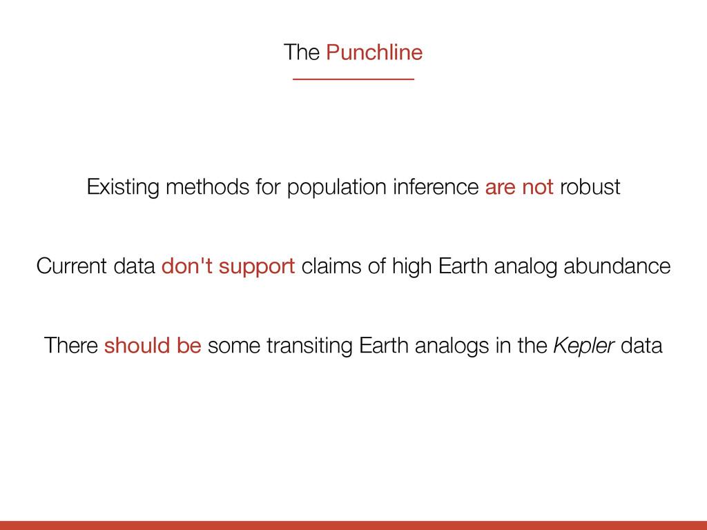 The Punchline Existing methods for population i...