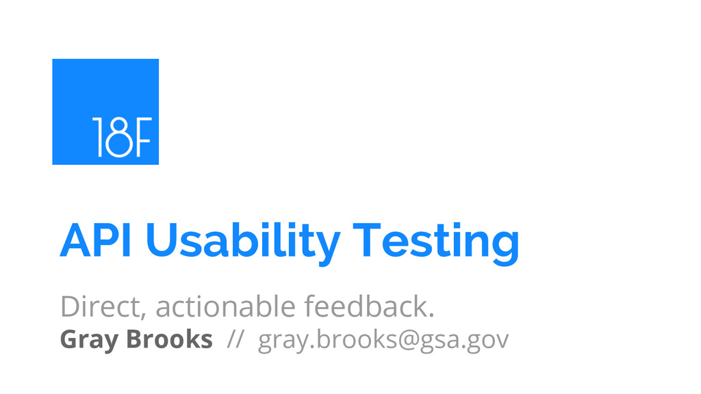 Direct, actionable feedback. Gray Brooks // gra...