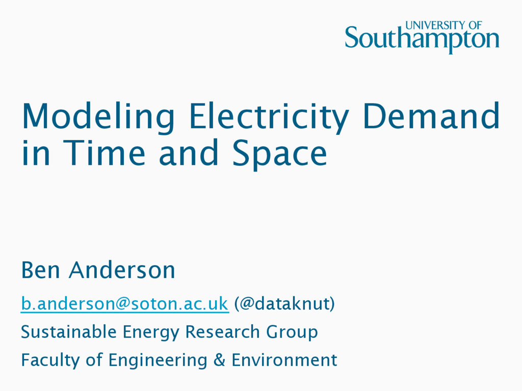Modeling Electricity Demand in Time and Space B...