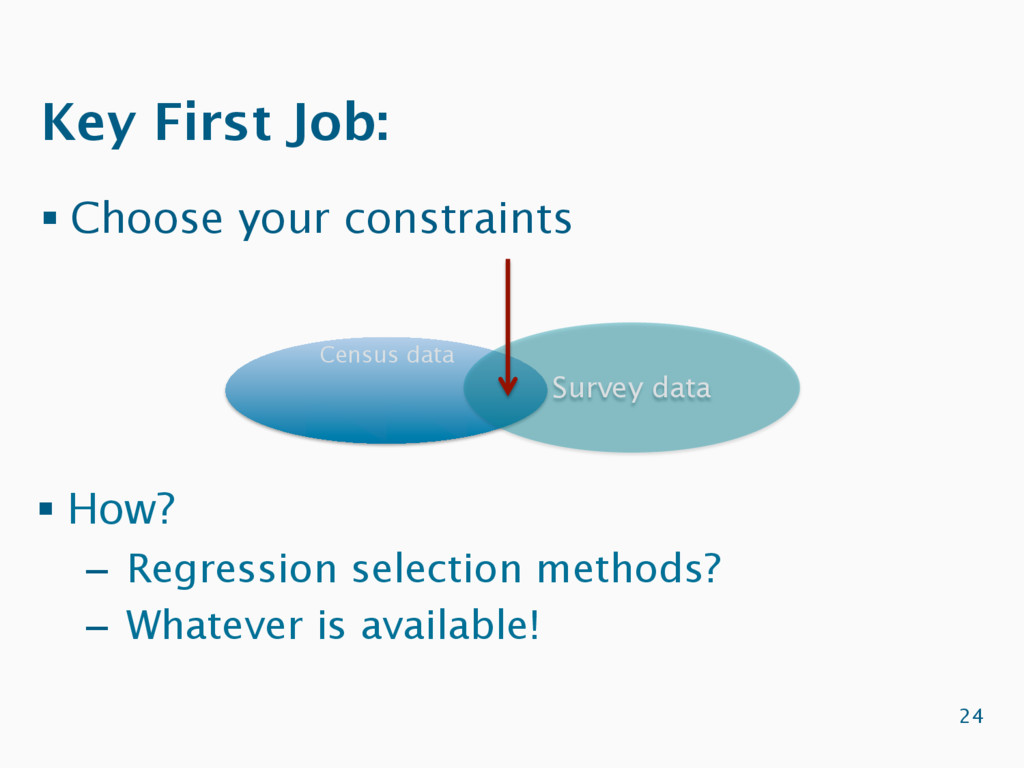 Key First Job: § Choose your constraints 24 Cen...