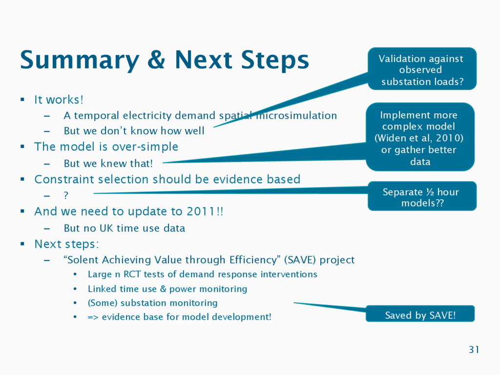 Summary & Next Steps 31 §  It works! –  A tempo...