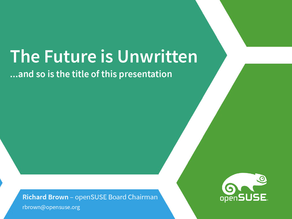 The Future is Unwritten ...and so is the title ...