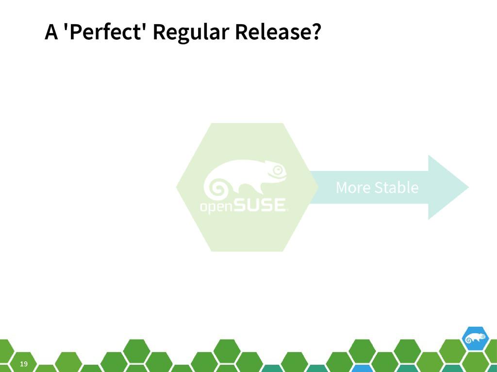 19 A 'Perfect' Regular Release?