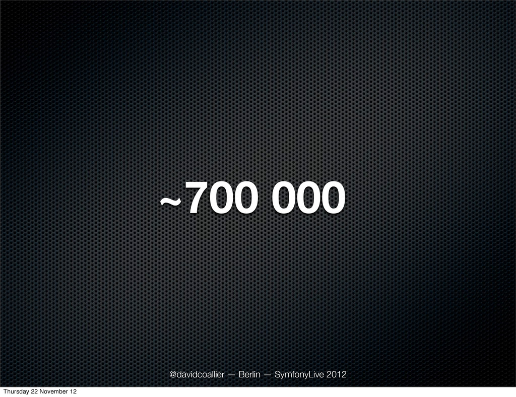 ~700 000 @davidcoallier — Berlin — SymfonyLive ...