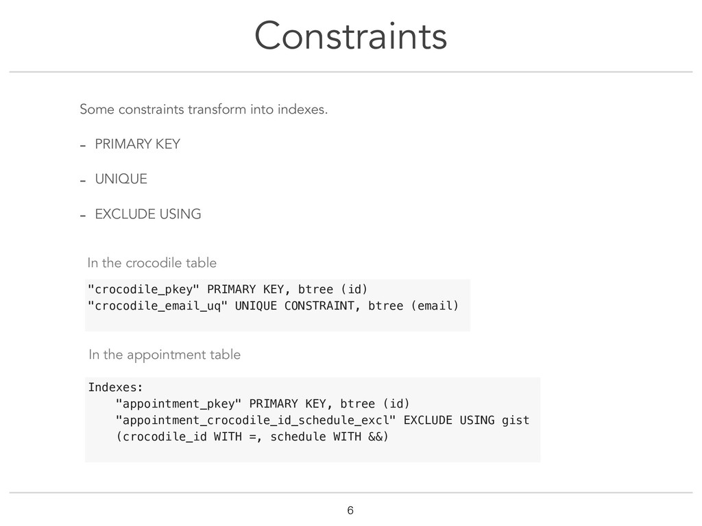 Constraints !6 Some constraints transform into ...