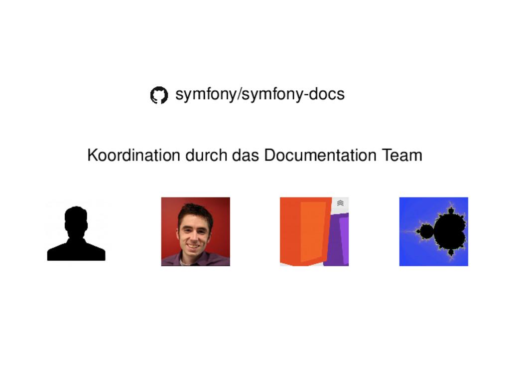 symfony/symfony-docs Koordination durch das Doc...