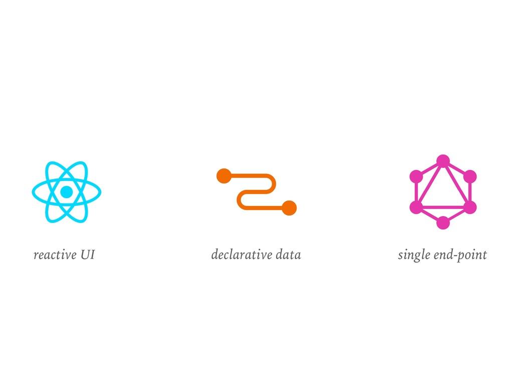 reactive UI declarative data single end-point