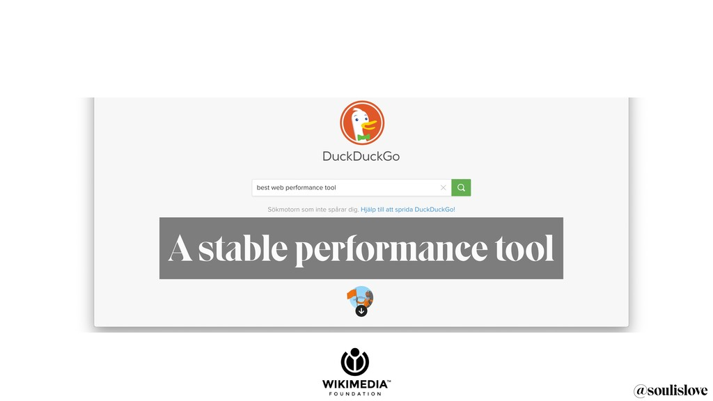 @soulislove A stable performance tool