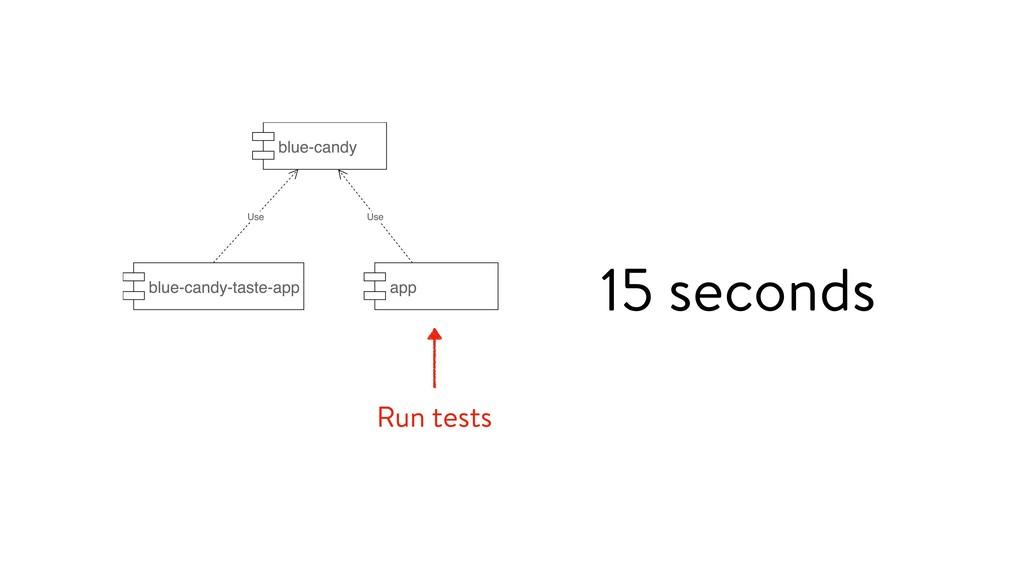 Run tests 15 seconds