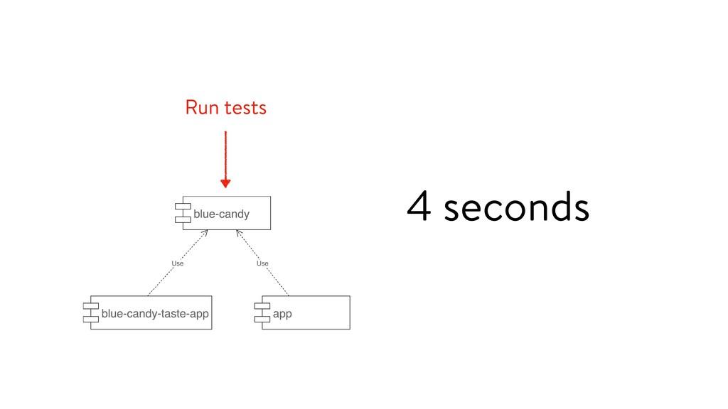 Run tests 4 seconds