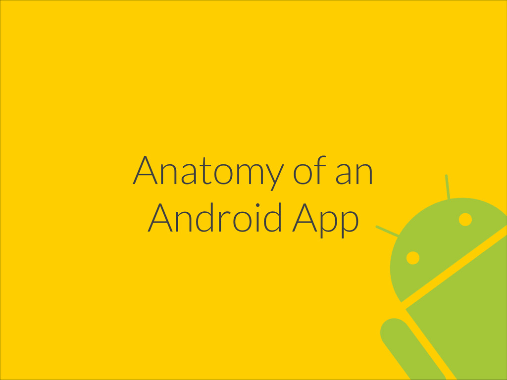Anatomy of an Android App