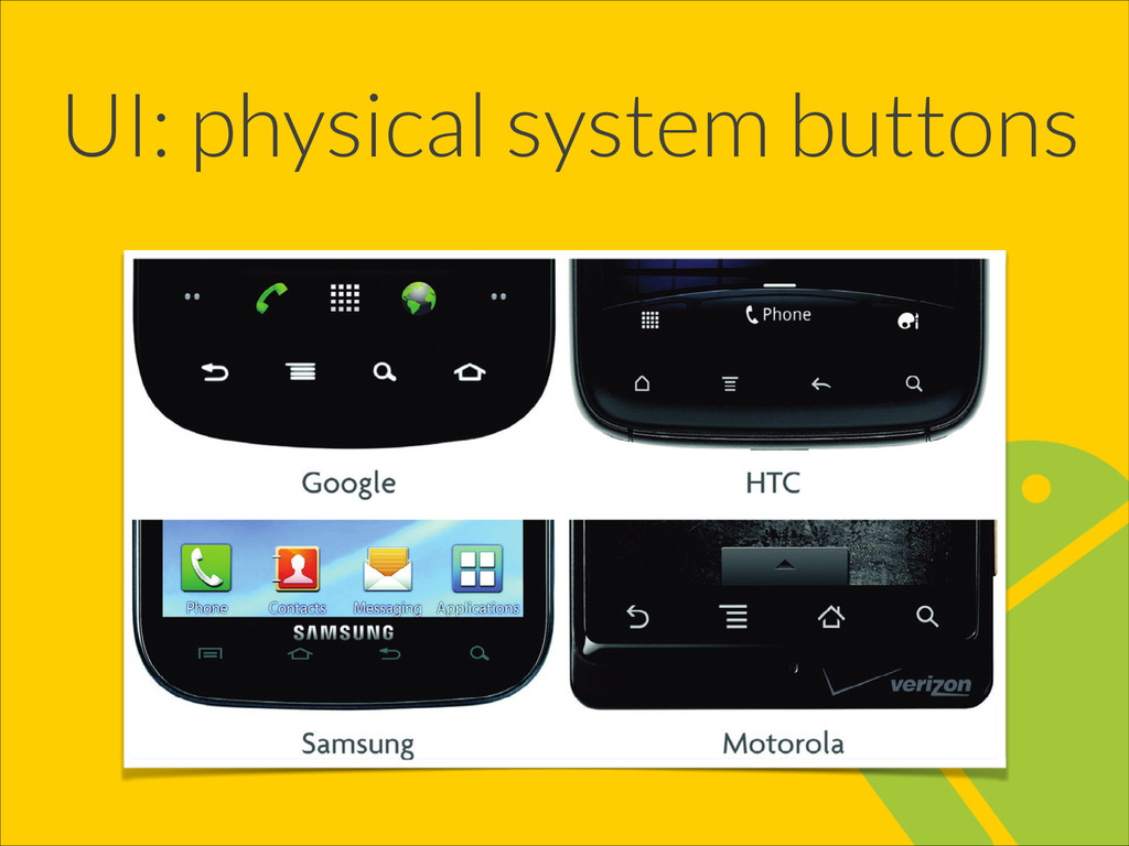 UI: physical system buttons