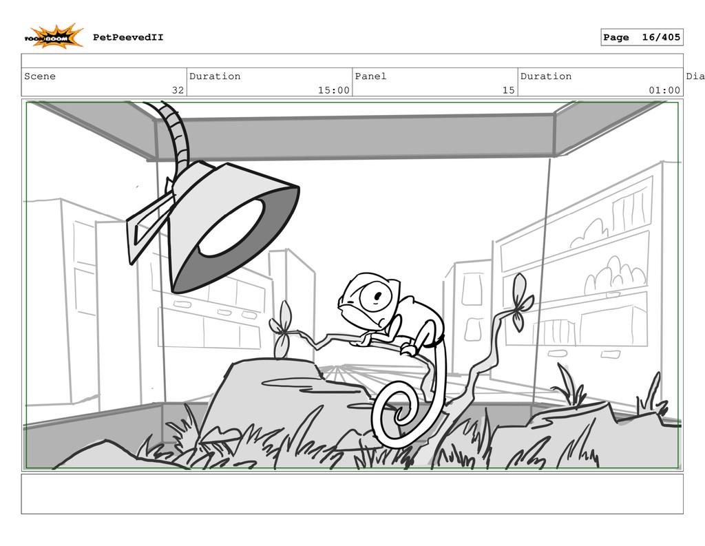 Scene 32 Duration 15:00 Panel 15 Duration 01:00...