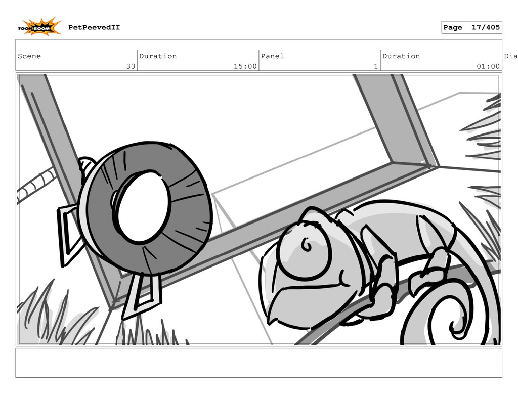 Scene 33 Duration 15:00 Panel 1 Duration 01:00 ...