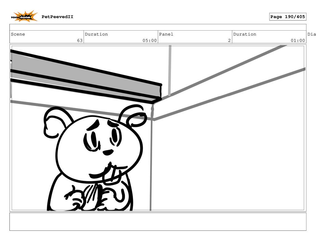 Scene 63 Duration 05:00 Panel 2 Duration 01:00 ...