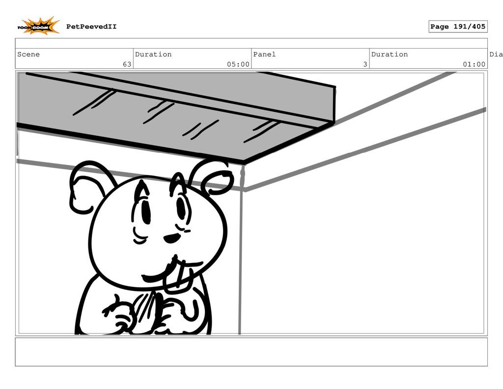 Scene 63 Duration 05:00 Panel 3 Duration 01:00 ...
