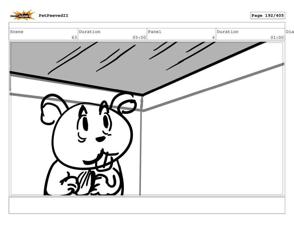 Scene 63 Duration 05:00 Panel 4 Duration 01:00 ...