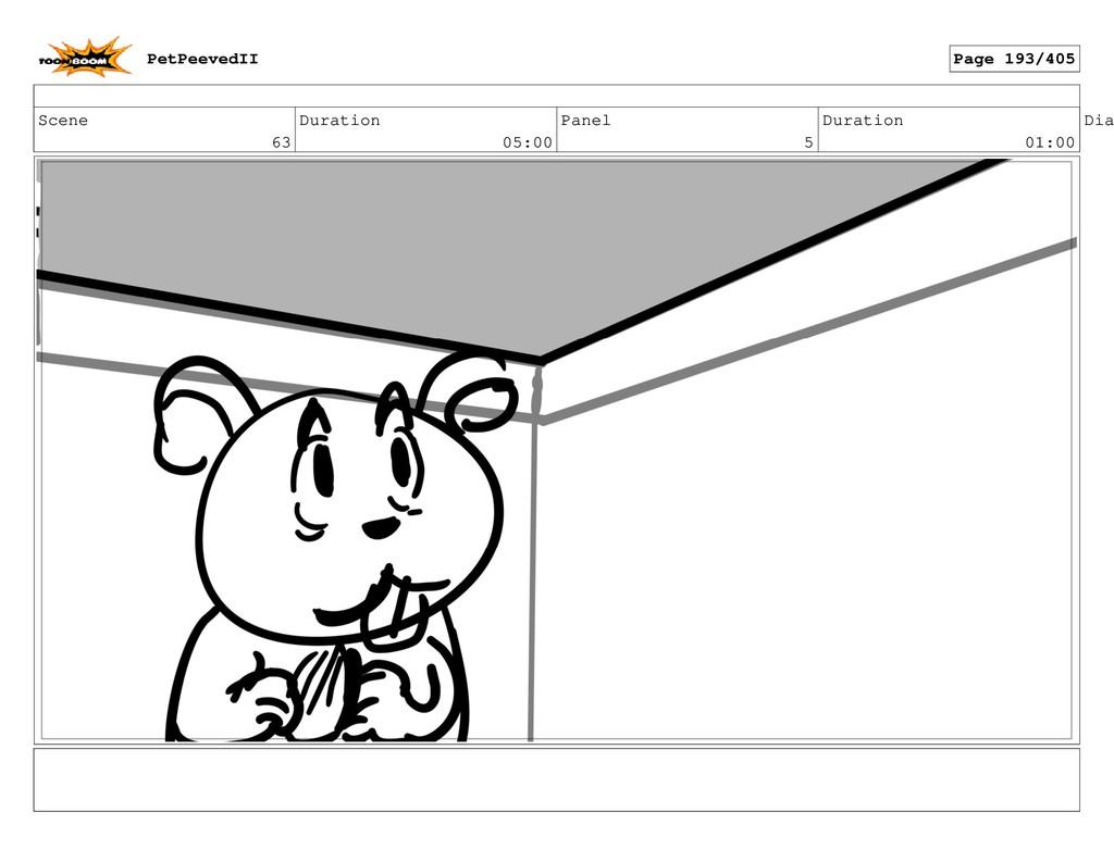 Scene 63 Duration 05:00 Panel 5 Duration 01:00 ...