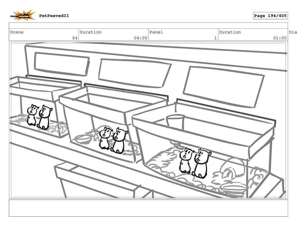 Scene 64 Duration 04:00 Panel 1 Duration 01:00 ...