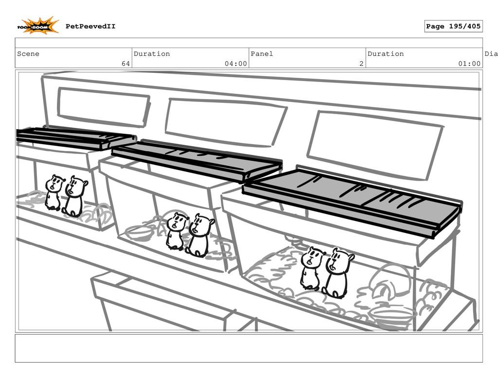 Scene 64 Duration 04:00 Panel 2 Duration 01:00 ...
